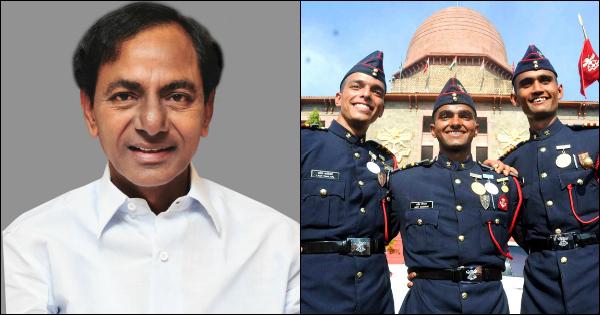 Chief Minister K. Chandrasekhar Rao nda cadet