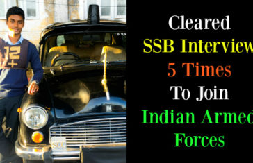 Cleared SSB Interview 5 Times To Join Indian Armed Forces