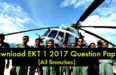 EKT 1 2017 Question Paper