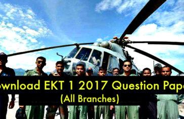 EKT 1 2017 Question Paper