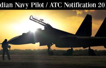 Indian Navy Pilot ATC Notification 2017