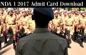 NDA 1 2017 Admit Card Download