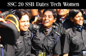 SSC 20 SSB Dates Tech Women