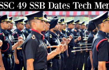 SSC 49 SSB Dates Tech Men