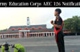 Army Education Corps AEC 126 Notification