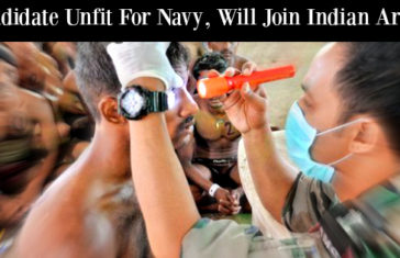 Candidate Unfit For Navy, Will Join Indian Army