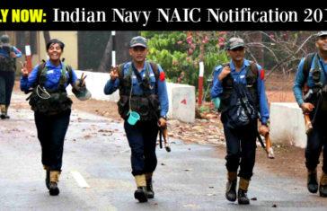 Indian Navy NAIC Notification 2017