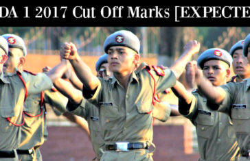 NDA 1 2017 Cut Off Marks [EXPECTED]