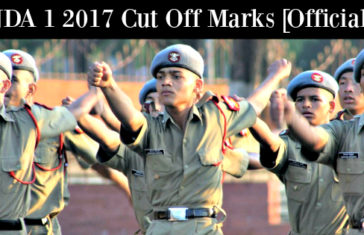 NDA 1 2017 Cut Off Marks [Official]