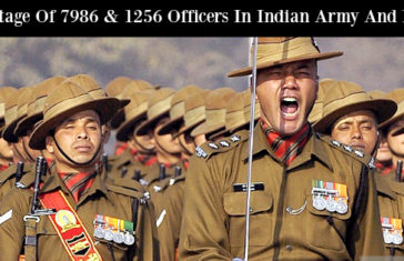 Shortage Of 7986 & 1256 Officers In Indian Army And Navy