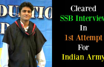 Cleared SSB Interview In 1st Attempt For Indian Army