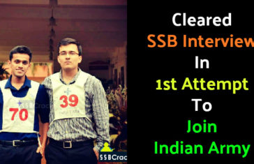 Cleared SSB Interview In 1st Attempt To Join Indian Army