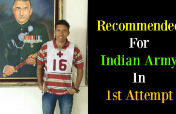 Recommended For Indian Army In 1st Attempt
