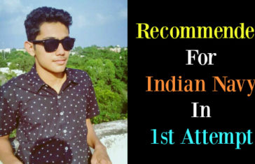 Recommended For Indian Navy In 1st Attempt