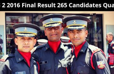 CDS 2 2016 Final Result 265 Candidates Qualify
