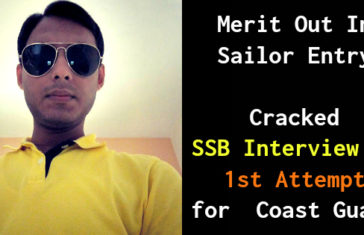 Cracked SSB Interview In 1st Attempt for Coast Guard