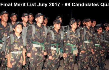 IAF Final Merit List July 2017