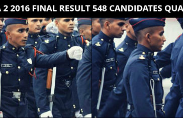 NDA 2 2016 FINAL RESULT 548 CANDIDATES QUALIFY