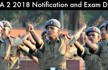 NDA 2 2018 notification and Exam Date