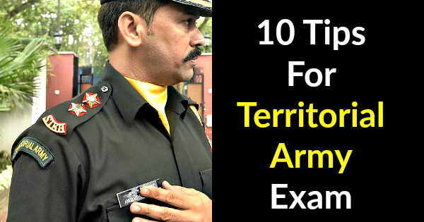 10 Tips For Territorial Army Exam