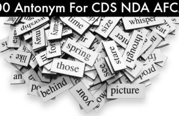 100 Antonym For CDS NDA AFCAT