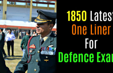 1850 Latest One Liner For Defence Exams