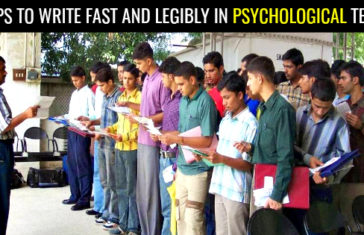 8 TIPS TO WRITE FAST AND LEGIBLY IN PSYCHOLOGICAL TESTS