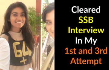 Cleared SSB Interview In My 1st and 3rd Attempt