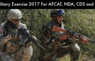 Military Exercise 2017 For AFCAT, NDA, CDS and TA