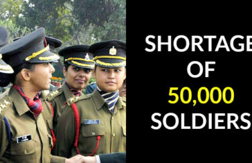 SHORTAGE OF 50,000 SOLDIERS