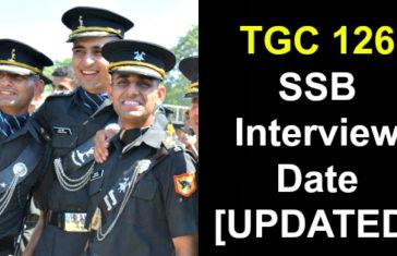 TGC 126 SSB Interview Date