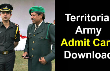 Territorial Army Admit Card Download