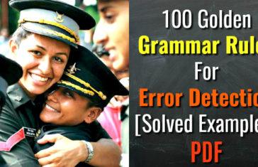 100 Golden Grammar Rules For Error Detection