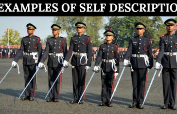 5 EXAMPLES OF SELF DESCRIPTION