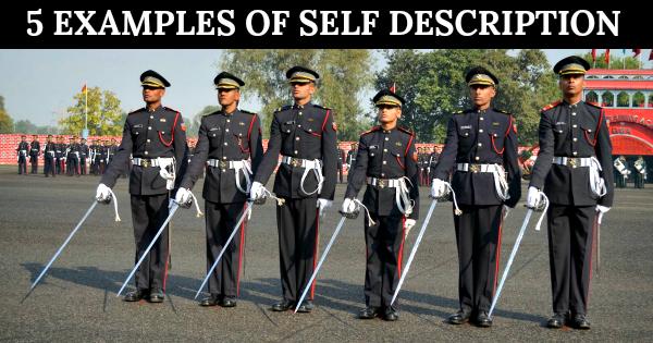 5 EXAMPLES OF SELF DESCRIPTION