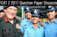 AFCAT 2 2017 Question Paper Discussion