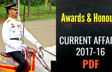 Awards & Honours CURRENT AFFAIRS 2017-16