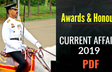 Awards-Honours-CURRENT-AFFAIRS-2019 - 2018