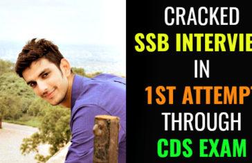 CRACKED SSB INTERVIEW IN 1ST ATTEMPT THROUGH CDS EXAM