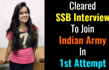 Cleared SSB Interview To Join Indian Army In 1st Attempt