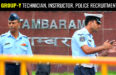 IAF GROUP-Y TECHNICIAN, INSTRUCTOR, POLICE RECRUITMENT