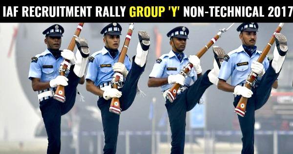 IAF RECRUITMENT RALLY GROUP 'Y' NON-TECHNICAL 2017
