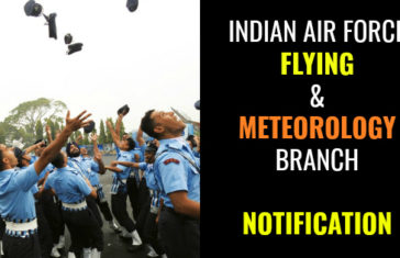 Indian Air Force Meteorology Branch And NCC Special Entry Notification 2017
