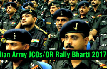 Indian Army JCOsOR Rally Bharti 2017-18