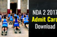 NDA 2 2017 Admit Card Download