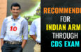 RECOMMENDED FOR INDIAN ARMY THROUGH CDS EXAM