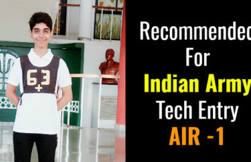 Recommended For Indian Army Tech Entry AIR -1