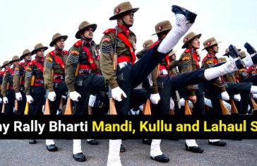 Army Rally Bharti Mandi, Kullu and Lahaul Spiti