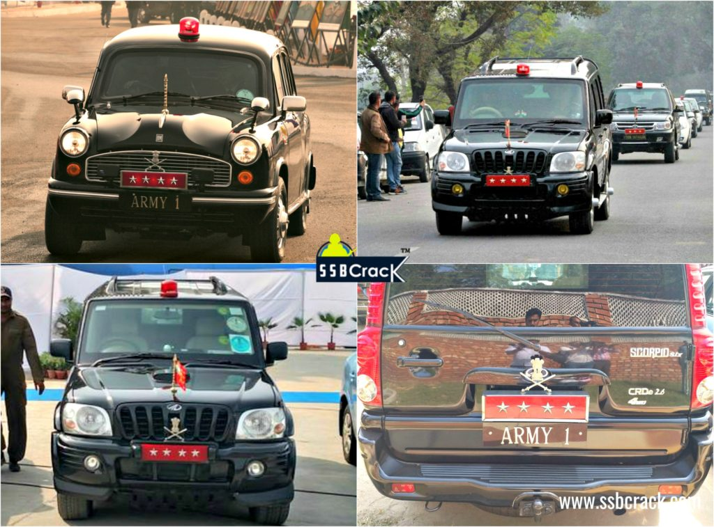 Indian army chief cars