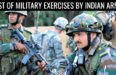 LIST OF MILITARY EXERCISES BY INDIAN ARMY
